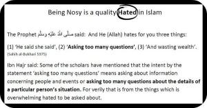 Being Nosy is a quality Hated in Islam